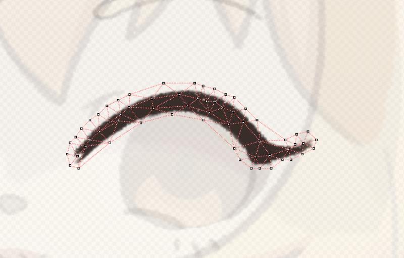 まつ毛の分割